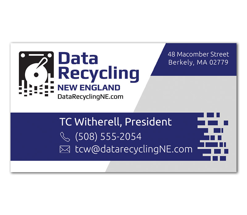 Data Recycling business card